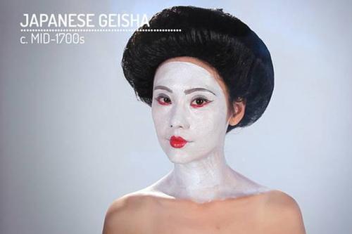 Как изменялся женский макияж на протяжении веков