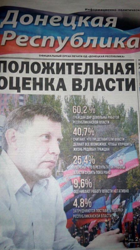 """Занимательная математика: Властью в """"ДНР"""" довольны 126% опрошенных жителей"""
