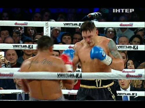 Александр Усик одержал победу нокаутом