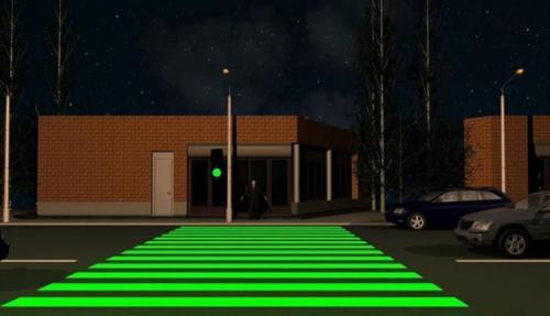 В Одессе сделали перекресток со светодиодной подсветкой