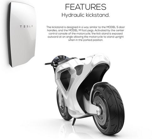 Дизайнер из Калифорнии представил мотоцикл Tesla