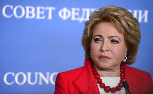 Матвиенко заявила о нежелании «спокойно взирать» на притеснения русских