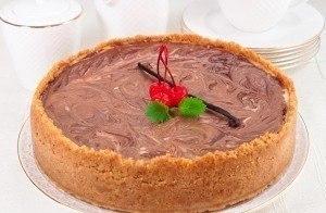 Чизкейк ванильно-шоколадный (пошаговое приготовление)