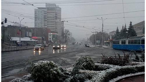В Виннице уже выпал снег