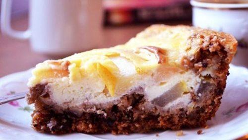 Кулинарный шедевр — Овсяный пирог с грушами и сметанным суфле