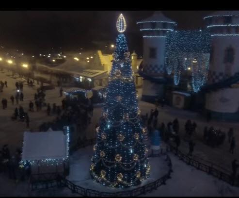 Новогодняя Ёлка, Харьков 2016, Аэросъёмка