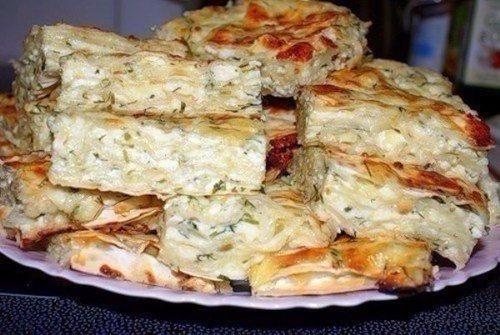 Ленивый вариант грузинского слоеного пирога с сыром «Ачма»