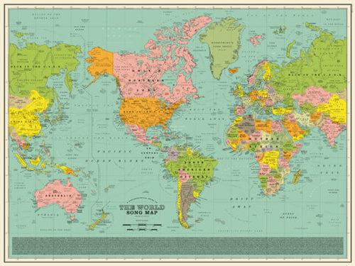 Украину на карте заменили названиями трех песен