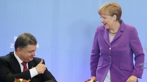 Меркель пообещала Порошенко не допустить геополитической сделки за спиной Киева
