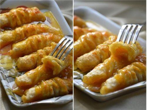 Хрустящие слойки с мандаринами в карамельном сиропе — Объедение!