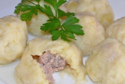 """Мамины секреты """"Картофельные галушки с мясом"""""""