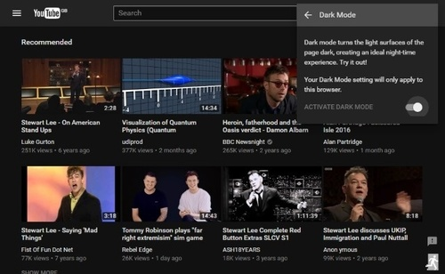 "Youtube добавил новинку в дизайне – ""ночной режим"""