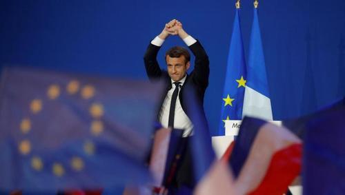 Флаги Евросоюза и дискотека: как сторонники Макрона отпраздновали победу