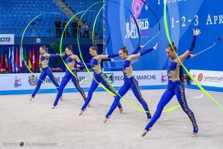 В Баку украинские гимнастки завоевали золото Кубка мира