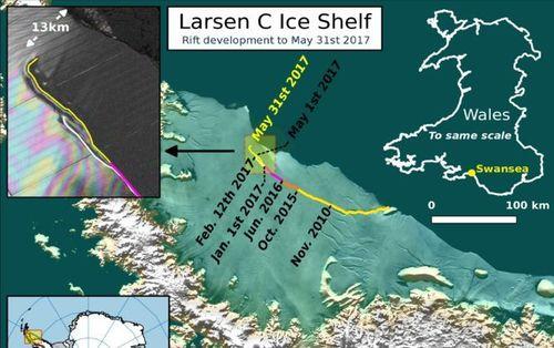 От Антарктиды отколется самый большой в мире айсберг