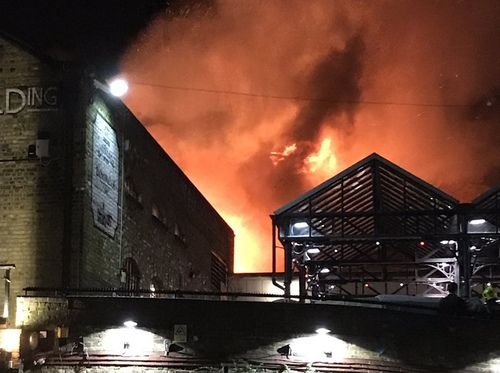 Опять крупный пожар в Лондоне