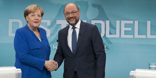 Выборы в Германии: Меркель выиграла теледебаты у Шульца
