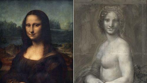 Во Франции обнаружен рисунок обнаженной Моны Лизы