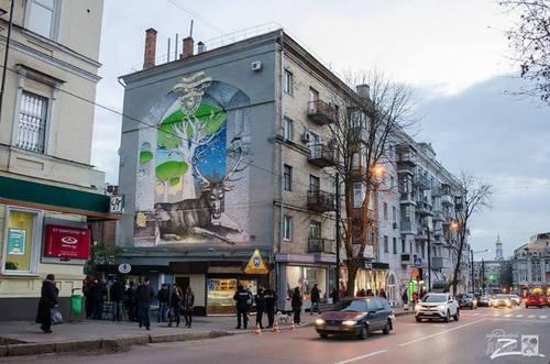 В Харькове создали мурал, посвященный 25-й годовщине украинско-немецких дипломатических отношений