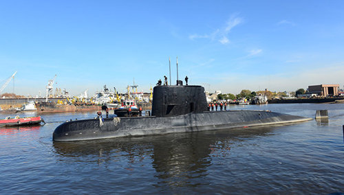 С пропавшей в Аргентине подлодки спаслись два моряка