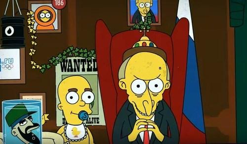 12 лет Путина за 2 минуты от Симпсонов (ВИДЕО)