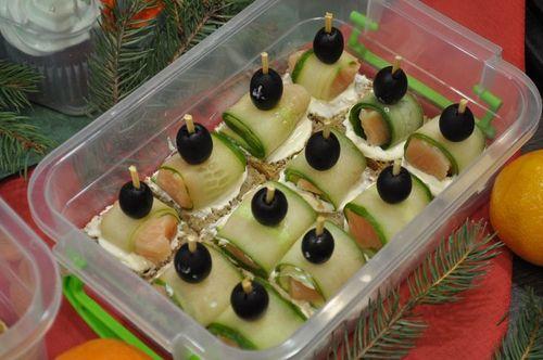 Рецепты на Новый Год «Канапе с красной рыбой»
