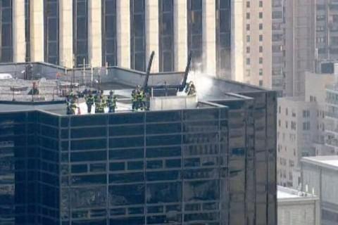 В Нью-Йорке загорелся небоскреб Трампа