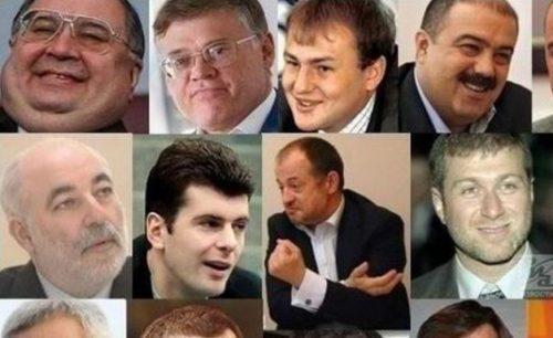 Состояние российских олигархов, попавших в список составляет 386, 3 миллиарда долларов