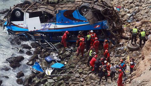 В КНДР автобус с китайскими туристами упал с моста. Погибли 36 человек