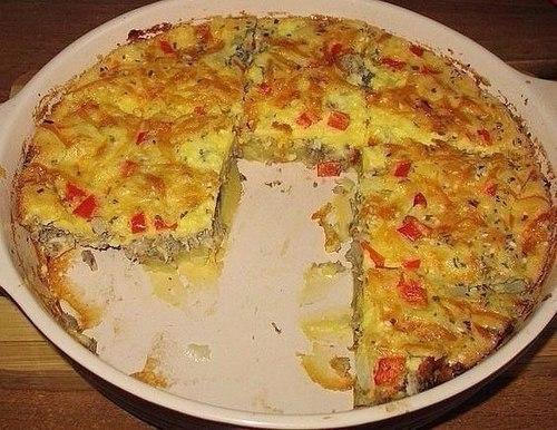 Мамины секреты «Пирог из рыбных консервов с картошкой»