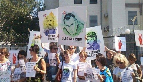 Мировая акцию в поддержку Олега Сенцова