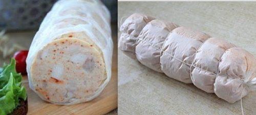 Мамины секреты «Домашняя колбаса из курицы»