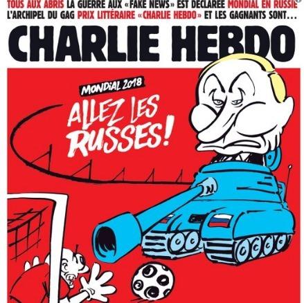 В новом номере Charlie Hebdo, редакция высмеяла ЧМ-2018