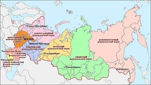 Зачем сохраняются «федеральные округа»? Восемь будущих «россий»?