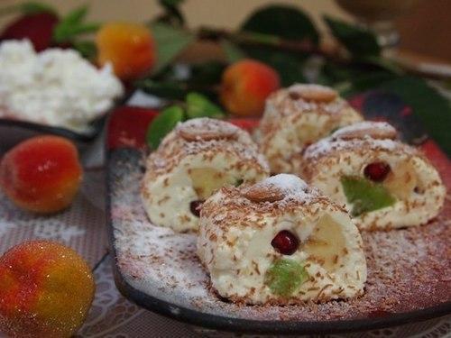 Мамины секреты «Роллы из творога с фруктами»