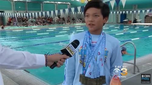 10-летний Кларк Кент побил рекорд 23-кратного олимпийского чемпиона Майкла Фелпса