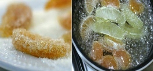 Лимонные дольки в сахаре