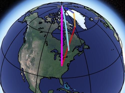 Смещение земной оси вызвано глобальным потеплением