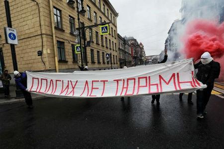 В Петербурге, Москве и Казани задержаны участники протестных акций