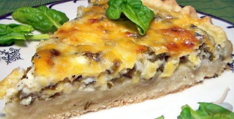 """""""Ленивый"""" пирог с сыром, творогом и зеленью"""