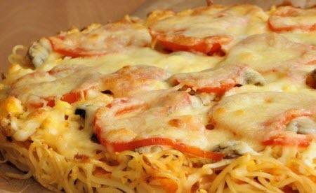 "Мамины секреты ""Пицца из макарон"""