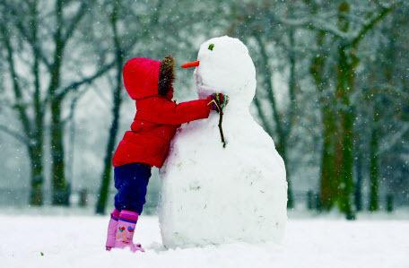 Лепим идеального снеговика