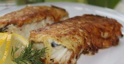 """Мамины секреты """"Рыба в картофельно-сырной шубе"""""""