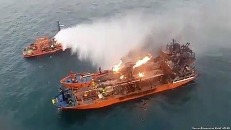 Пожар на танкерах в Черном море продолжается 22 день