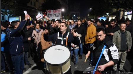 Чорногорія: тисячі людей мітингують з вимогою відставки президента та уряду