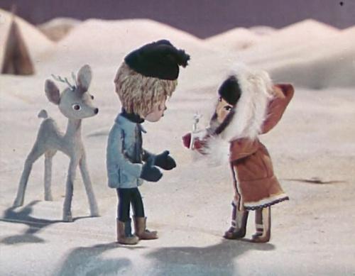 Українські мультфільми - Оленятко - Білі Ріжки (1974)