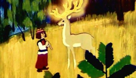Українські мультфільми - Золоторогий Олень (1979)