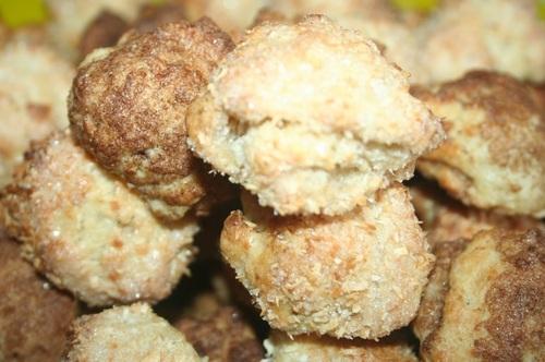 Творожно-банановое печенье