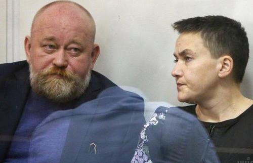 Надежду Савченко и Владимира Рубана выпустили из-под стражи в зале суда