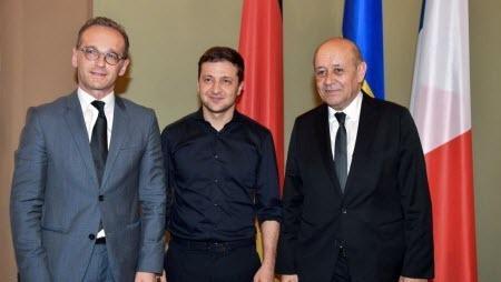 Главы МИД Франции и Германии встретились с Зеленским и потребовали «жестов» от России
